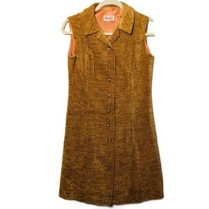 VTG 70 Jerell of Texas sleeveless button dress S